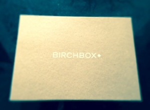 Excited to open my BirchBox!