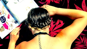 A crown braid keeps yours hair off of your neck